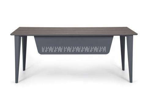 Ovali Schreibtisch 4-beinig Iconlux Grau 180x80x75