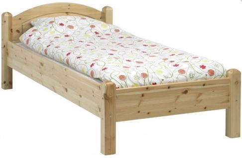 Bett in Kiefer massiv Natur Samso 90x200