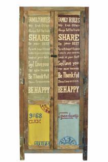 Garderobenschrank Holz Avias mit 2 Türen Bunt