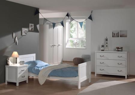 Jugendzimmer Set Iny 4-teilig in Weiß