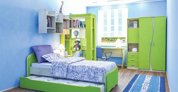 Jugendzimmer Combi mit zwei Liegeflächen 7-teilig