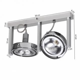 Spot-Lampe 2-flammig Deckenleuchte Strahler Spotsystem G9 52W (EEK: C) - Vorschau 2