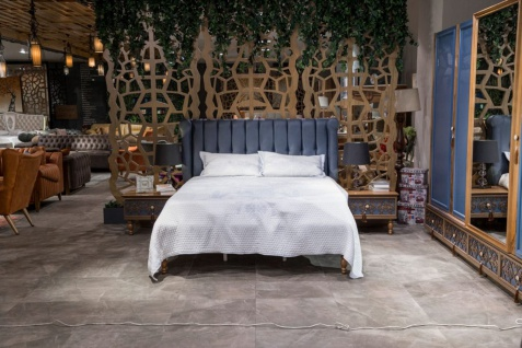 Doppelbett Varun inkl. Bettkasten 160x200 Blau