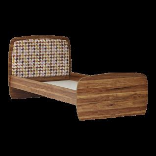 Jugendbett in Holz Optik Retro Trend 100x200