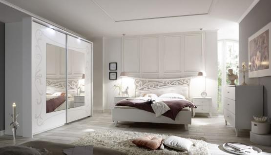 Schlafzimmer Set Sereina in romantischem Stil 220cm