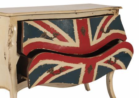 Kommode Pompadour in Antikweiß mit Union Jack - Vorschau 2