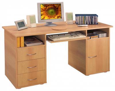 Paula Schreibtisch 140x60 mit Melaminbeschichtung