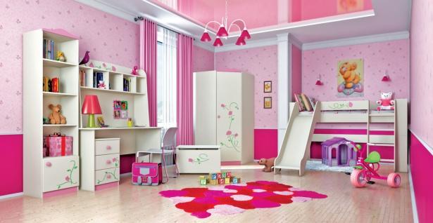 Kinderzimmer Set Rosalia mit Rosengravur 7-teilig