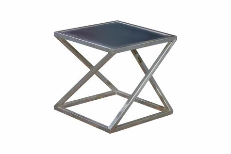Beistelltisch Metall Esem mit MDF Tischplatte 50x38x50