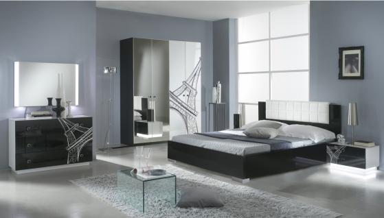 Design Schlafzimmer Vinzent mit 4-türigem Schrank