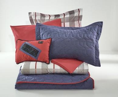 Almila Bettwäsche Set Origami 7-teilig in Blau und Rot