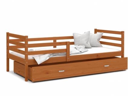 Kinderbett mit Bettkasten Erle massiv Rico 80x190