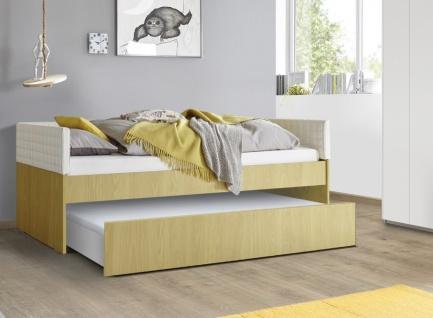 Jugendbett Space ohne Polsterung Gelb 90x200