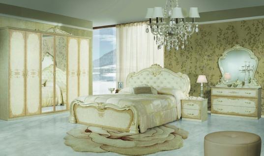 Barock Schlafzimmer Creme Tuja mit 4-türigem Schrank