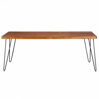 Massivholz Sheesham Esstisch 200x80x76 Küchentisch - Vorschau 3