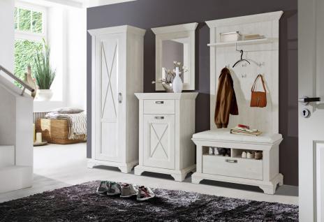 Garderoben Set in Weiß Jakob 4-teilig