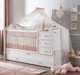 Cilek Romantic Baby Bett mitwachsend mit Ausziehbett - Vorschau 1