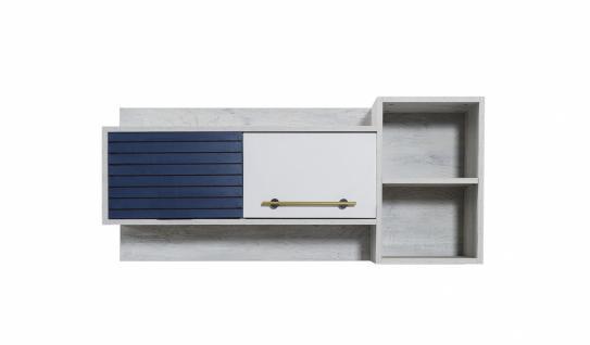 Schreibtischaufsatz Wandregal Lofty mit vier Fächern
