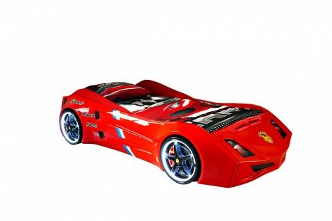 Titi Autobett Cat Garage Car in Rot mit Beleuchtung