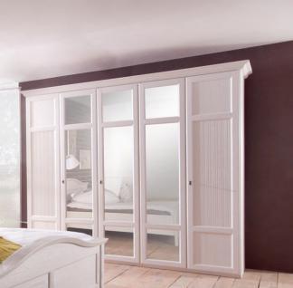 Kleiderschrank Gerrit in Pinie Weiß mit 6 Türen