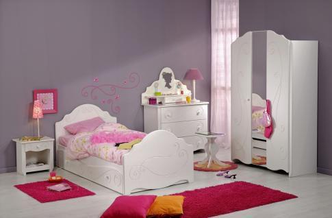 Kinderzimmer komplett Alison 7-teilig in Weiß
