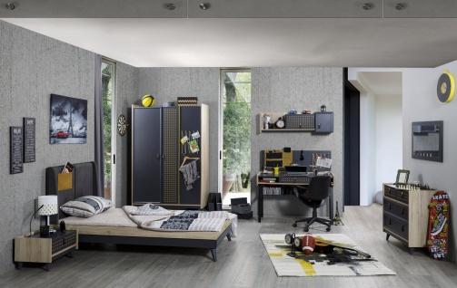Jugendzimmer Dark Point 6-teilig modern