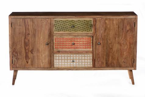 Sideboard Admiro mit 2 Türen aus Sheshame Natur