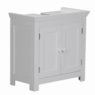 Bad Waschbecken Unterschrank 55, 5 x 57 x 30 cm 2 Türen weiß
