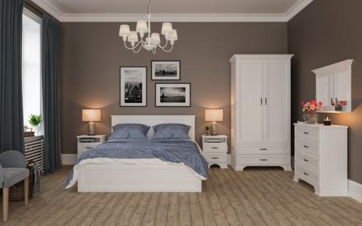 Schlafzimmer mit Stauraumbett Juna 140x200