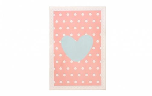 Cilek Kinderteppich Pastellfarben Happy 100x150