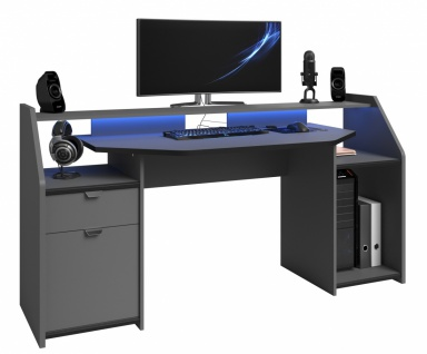 Parisot Gamer PC Tisch Set Up mit LED Beleuchtung