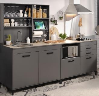 Parisot Küchenzeile 3-teilig in Grau Moove