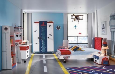 Kinderbett Pilot und Flugzeug Design 100x200 - Vorschau 3