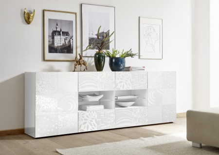 Sideboard mit offenem Fach Orim Weiß