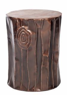 Hocker Romani mit bronzefarbenem Alugestell