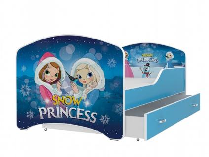 Kinderbett Ibis mit Bettkasten 80x140 Snow Princess