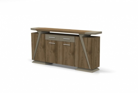 Büro Sideboard Relix in Holz Optik 4-türig