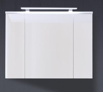 Spiegelschrank Yuven 3-türig in Weiß Hochglanz