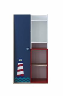 Kinder Bücherregal New Ocean mit Tür & Regalfächern