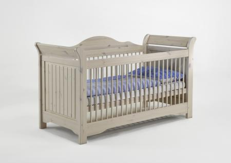 Babybett Amelie white wash Kiefer massiv - Vorschau 1