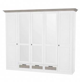 Kleiderschrank Leopold in Weiß mit 5 Türen
