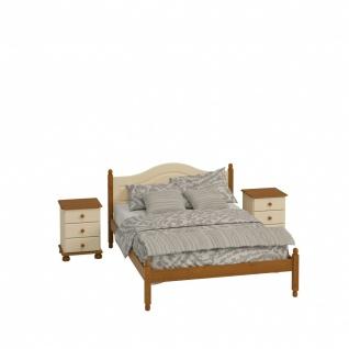Schlafzimmer Set in Beige Kiefer Camille 4-teilig - Vorschau 2