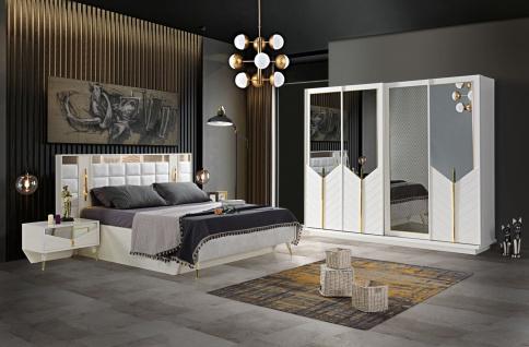 Lidya Schlafzimmer Set Piramit mit Bett in 160x200 cm