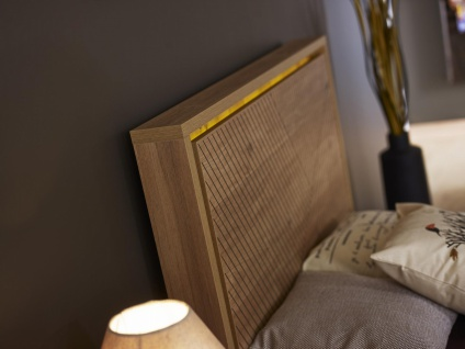 Jugendbett in warmer Holz Optik Origami 120x200 - Vorschau 3