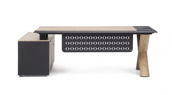 Ovali Design Schreibtisch 2-teilig Vinil 200x90 cm