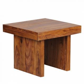 Massivholz Beistelltisch 60 x 60 x 48 cm Sheesham - Vorschau 2