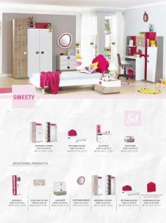 Stauraumbett in Weiß Pink Sweety 100x200 - Vorschau 2