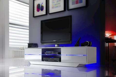 TV-Media Blu mit LED weiss Hochglanz MDF