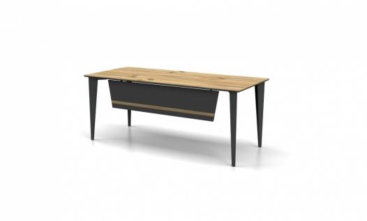 Schreibtisch in Holz Optik hell Icono 180x80