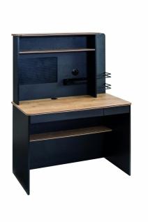 Cilek Black Schreibtisch klein mit Aufsatz